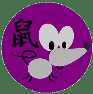 Symbol og kinesisk tegn for rotten i kinesisk astrologi og kinesiske horoskoper.